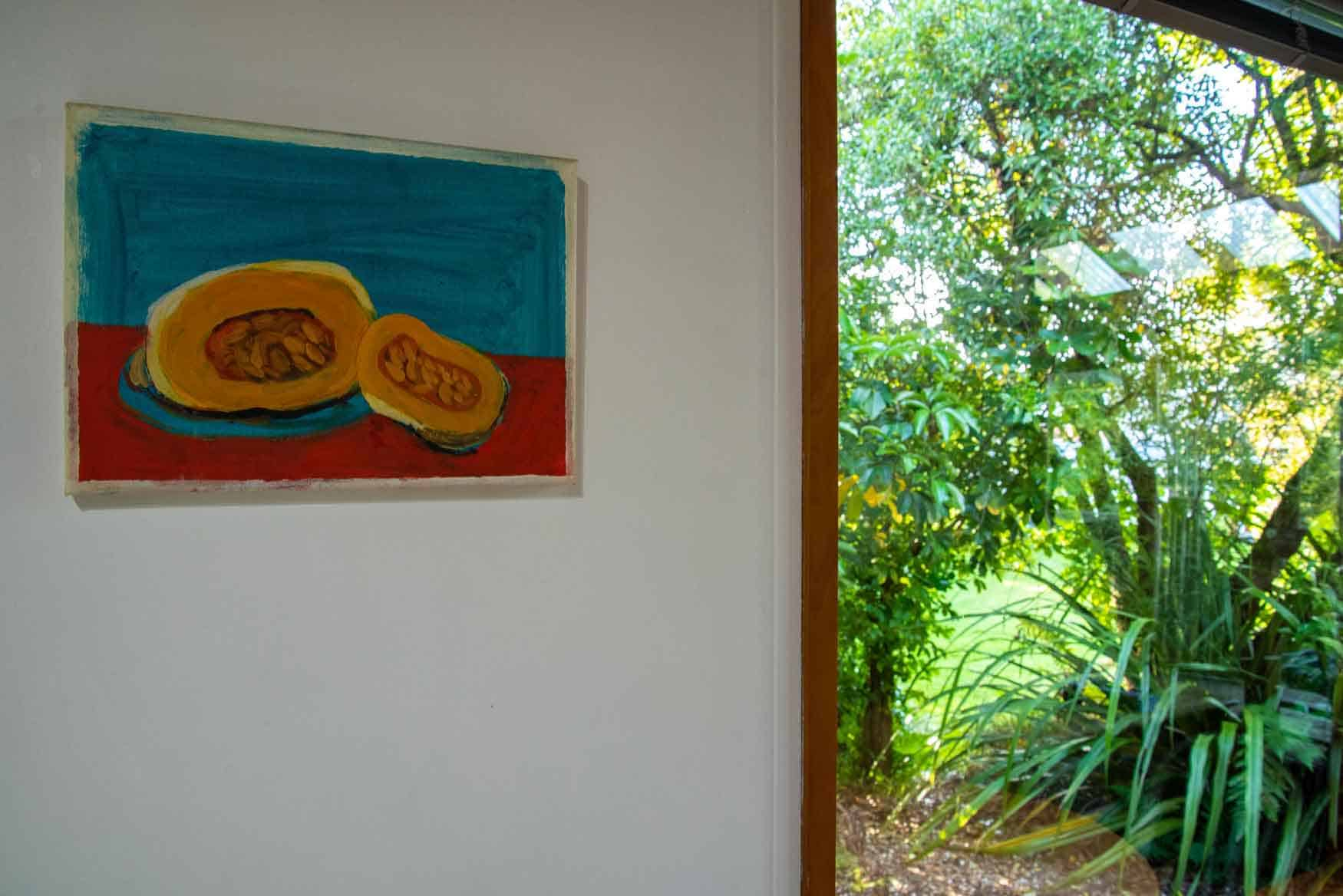 Artwork in Bellbird cottage accommodation in Dunedin