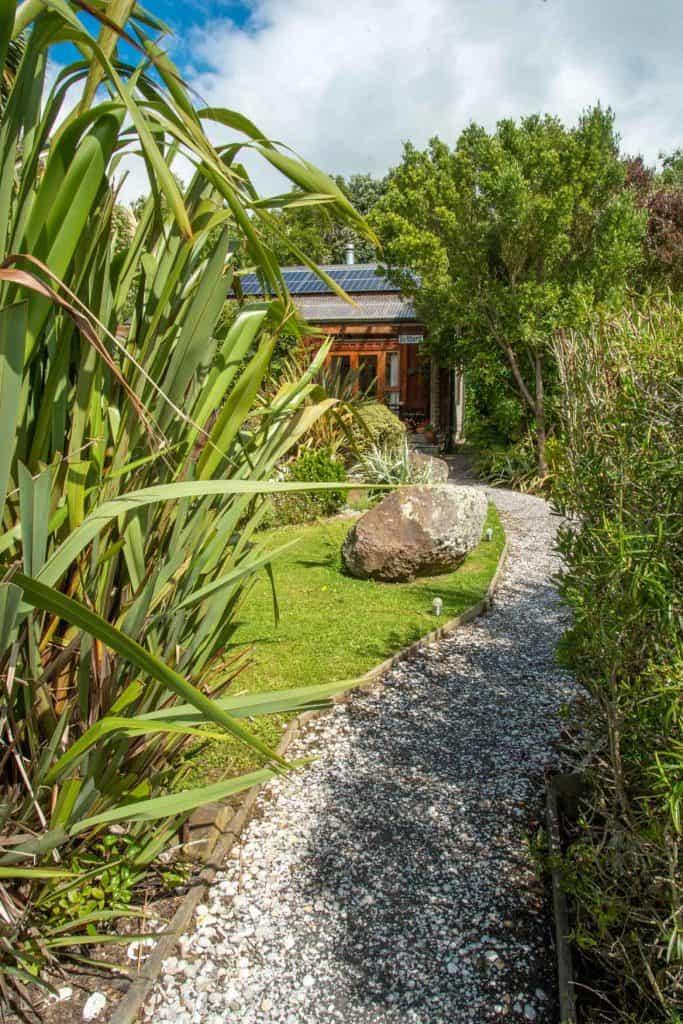 View of Bellbird cottage accommodation in Dunedin