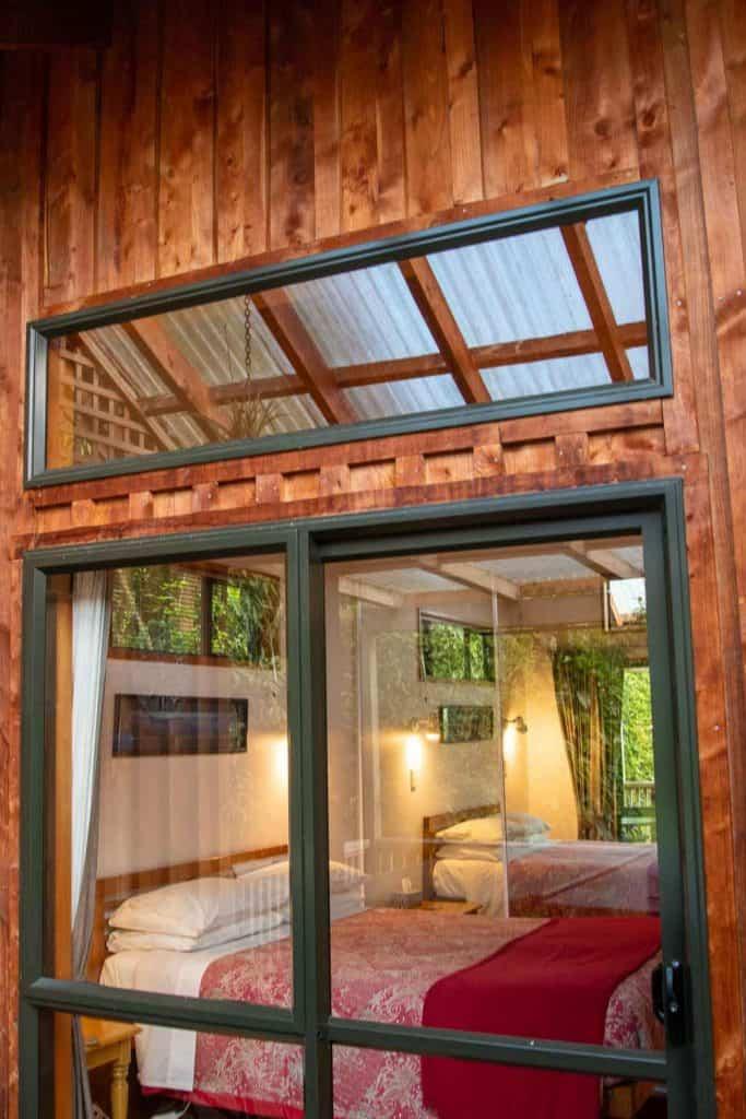 Bed in Bellbird cottage accommodation in Dunedin