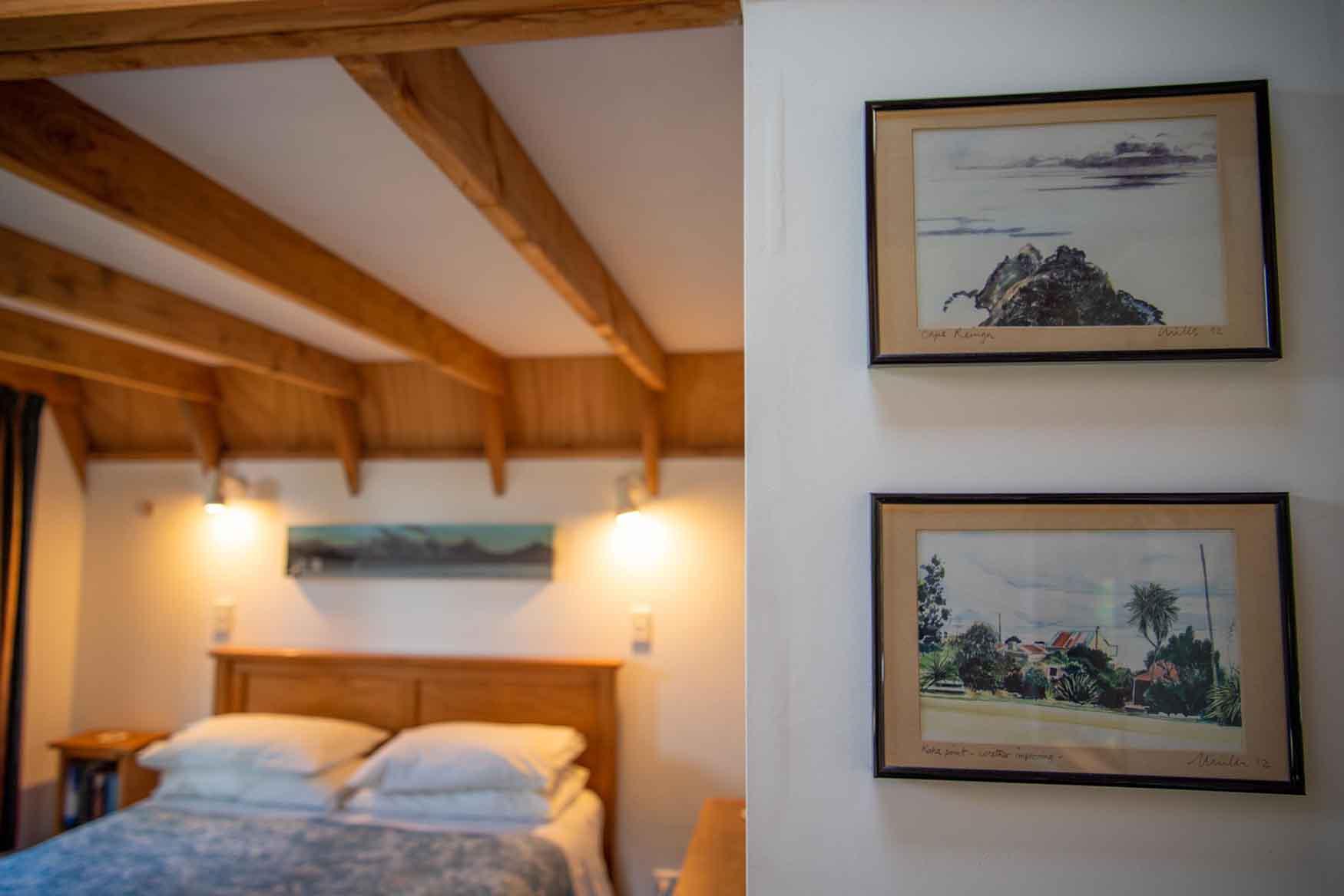 Artwork in Fantail cottage accommodation in Dunedin