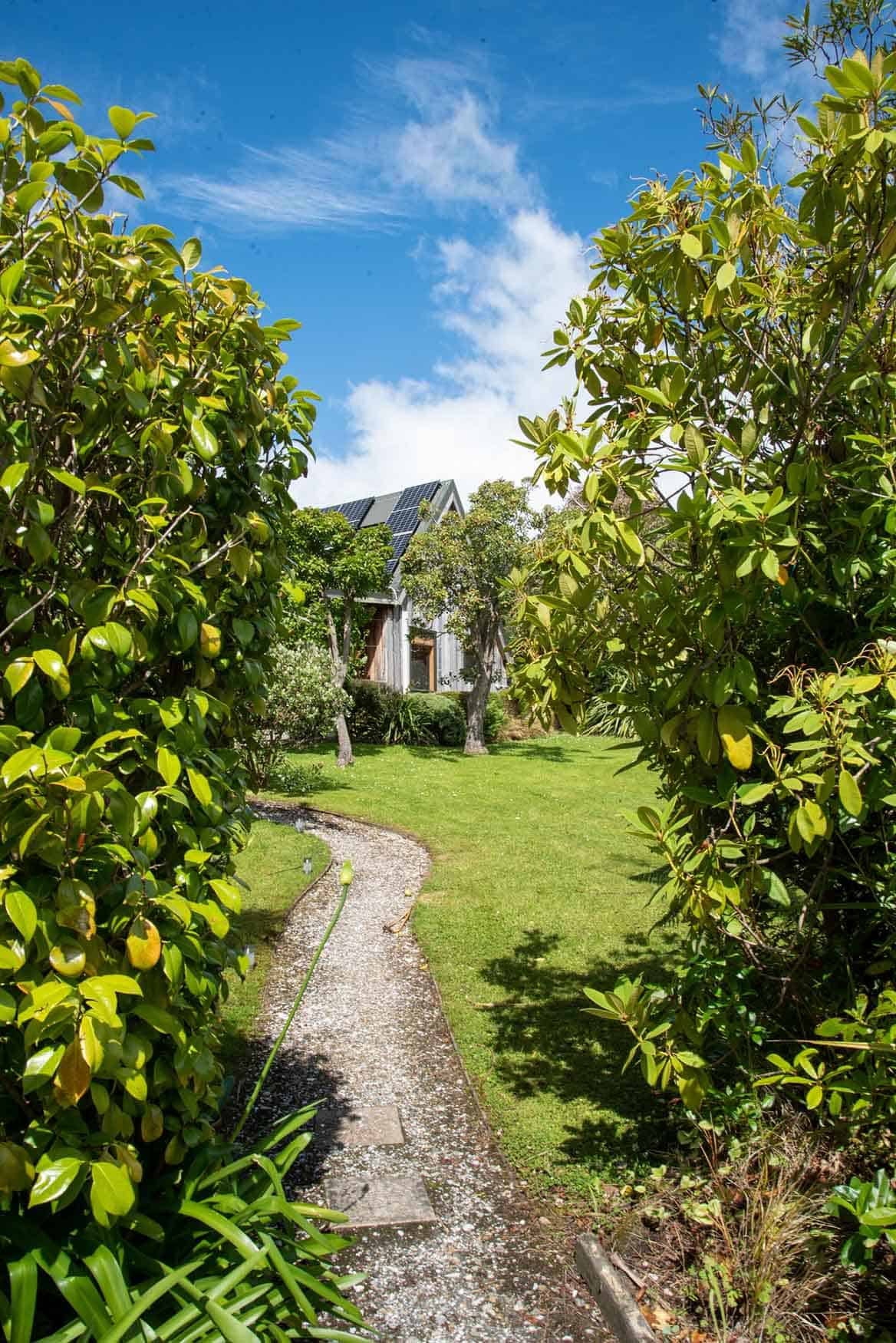 View from garden of Fantail cottage accommodation in Dunedin