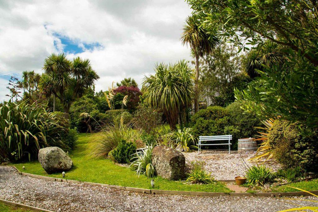 Garden of Fantail Lodge accommodation Dunedin