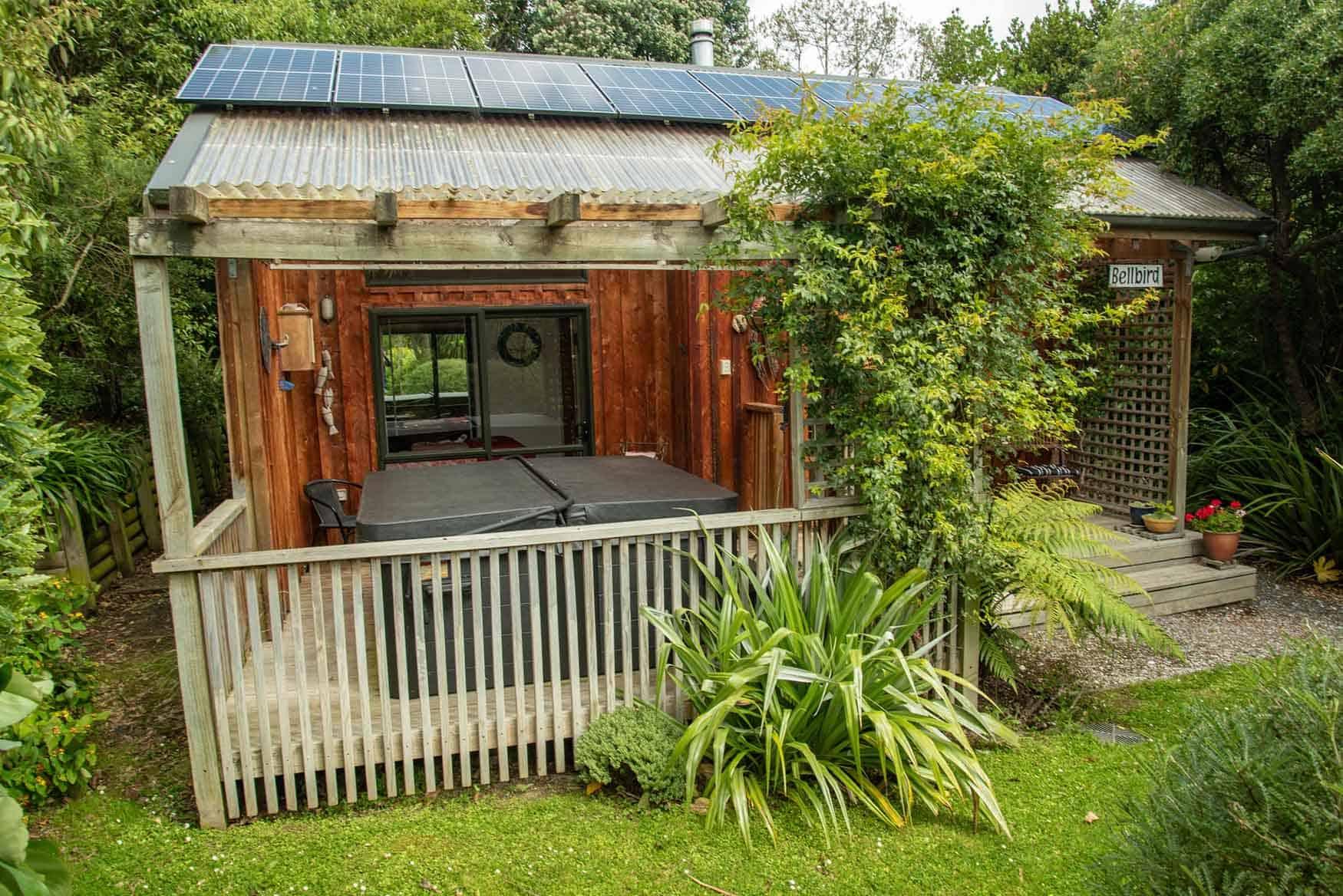 Bellbird garden - Fantail Lodge accommodation Dunedin